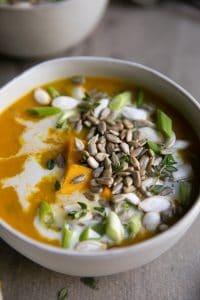 A bowl of Curry Lentil Soup