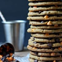 Peanut Butter Chocolate Chip Halloween Cookies
