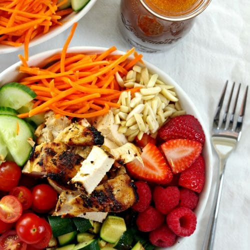 Summer Berry Salad with Grilled Citrus Garlic Chicken