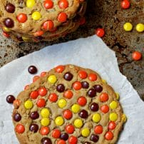 Reese's Pieces Peanut Butter Cookies with Peanut Butter Chips