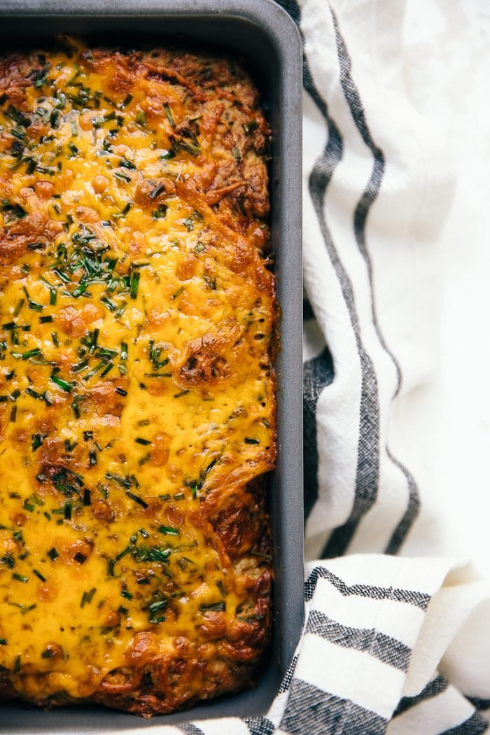 cheesy zucchini quick bread with melted cheese