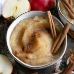 A bowl of Applesauce with cinnamon