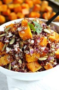 Butternut Squash, Quinoa and Cranberry salad with Balsamic Vinaigrette
