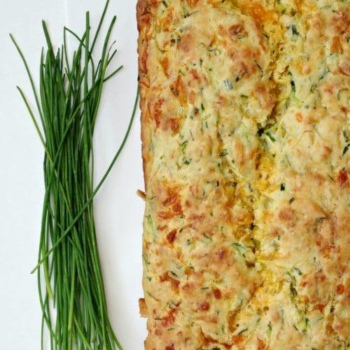 Chive, Cheddar and Zucchini Bread