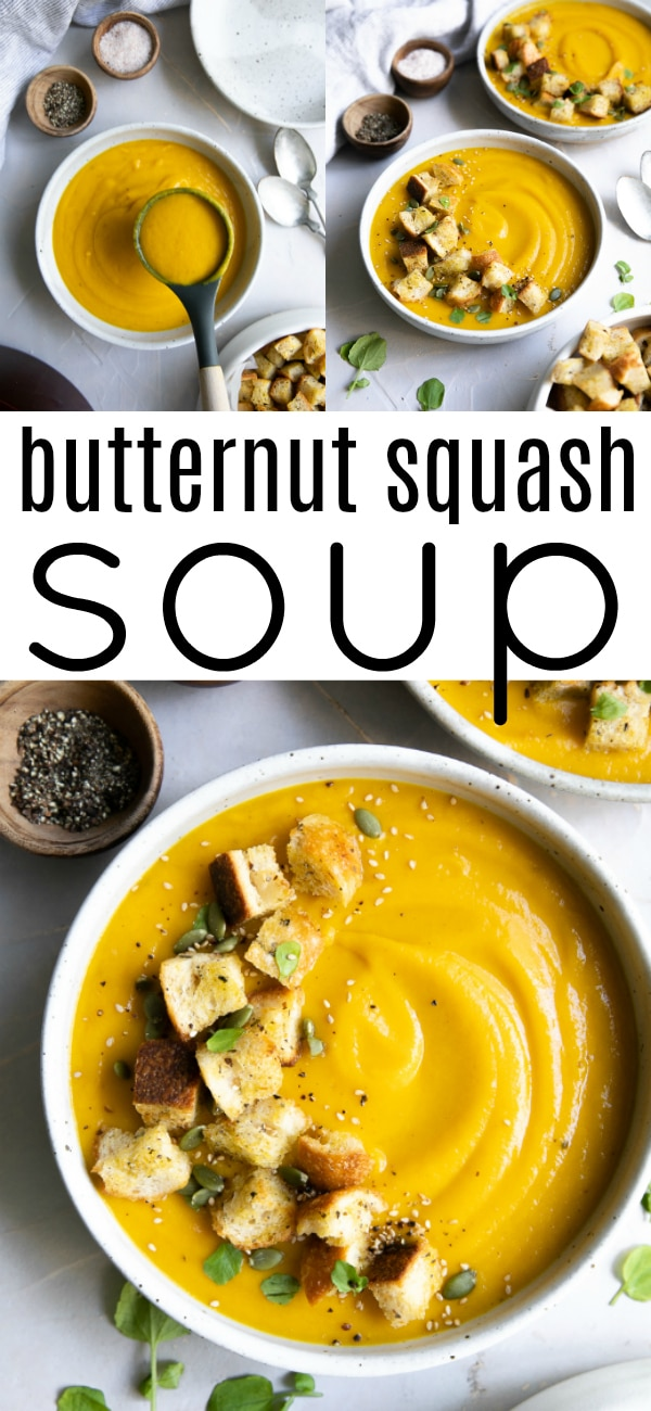 How to Make the BEST Butternut Squash Soup Recipe (3 ways) #butternutsquash #butternutsquashsoup #squashsoup #souprecipe #glutenfree #vegan #vegetarian