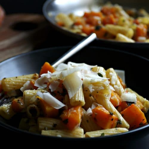 Pasta with Butternut Squash, Sage and Pinenuts