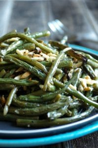 Oven Roasted Green Beans with Almonds