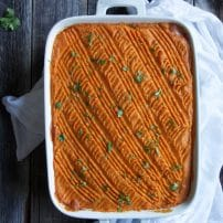Sweet Potato and Butternut Squash Shepherd's Pie