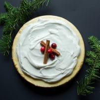 Eggnog Cheesecake with Eggnog Whipped Cream
