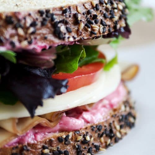 Cranberry Mayo Turkey Sandwiches