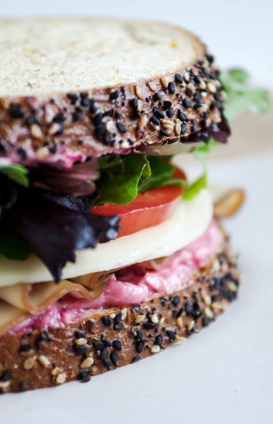 Cranberry Mayo Turkey Sandwiches