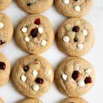 Pinterest pin for White Chocolate Cranberry Cookie Recipe