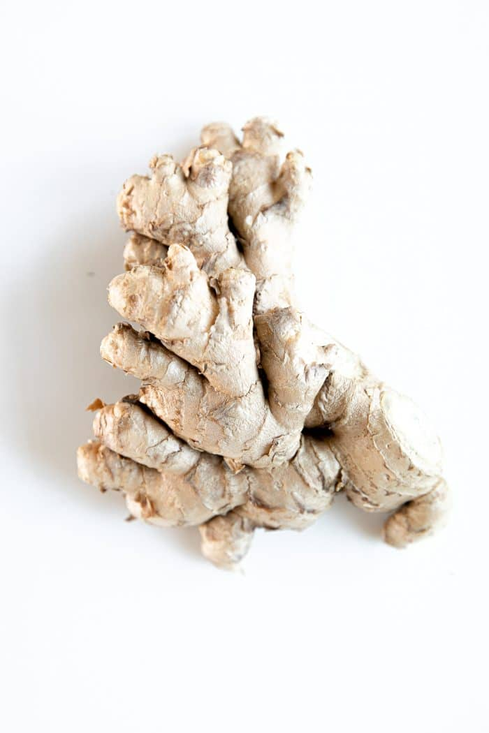 Whole piece of ginger.