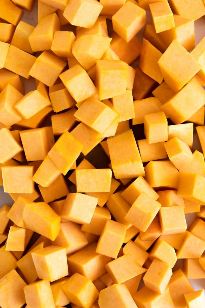 Cubes of butternut squash