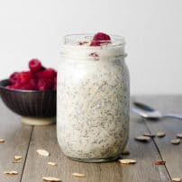 Raspberry Almond Overnight Oats