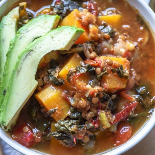 Lentil Stew with Butternut Squash