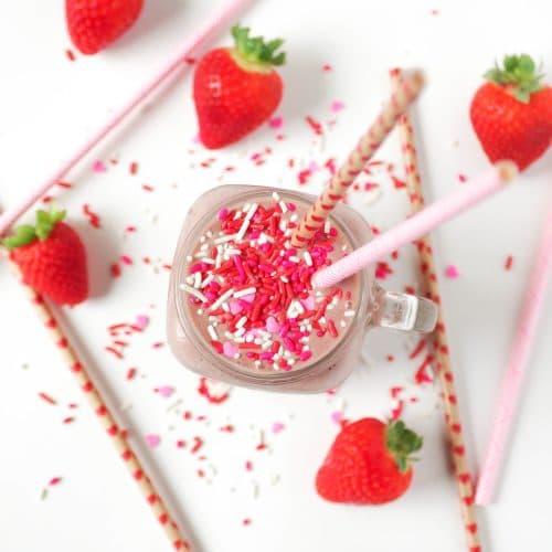 Strawberry Nutella Milkshake