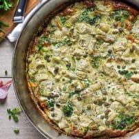 Broccoli, Artichoke and Herb Frittata