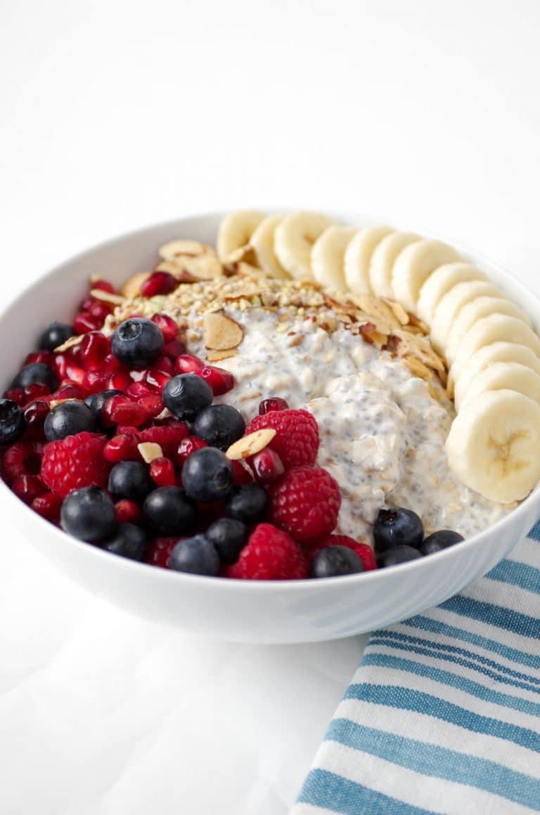 Vanilla Overnight Oats Breakfast Bowl The Forked Spoon