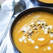 Thai Sweet Potato Soup with Lemongrass + Ginger