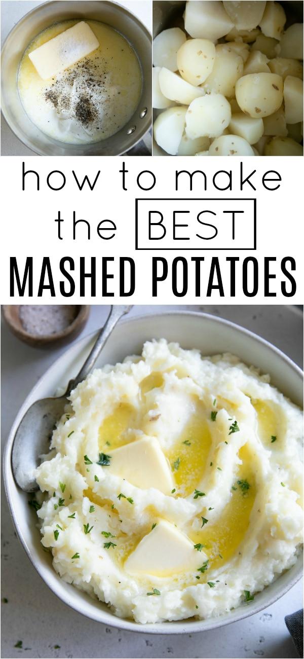 How to Make the BEST Mashed Potatoes #potatoes #mashedpoatoes #sidedish #creamymashedpotatoes