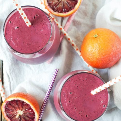 Blood Orange, Beet +Berry Smoothie with Ginger