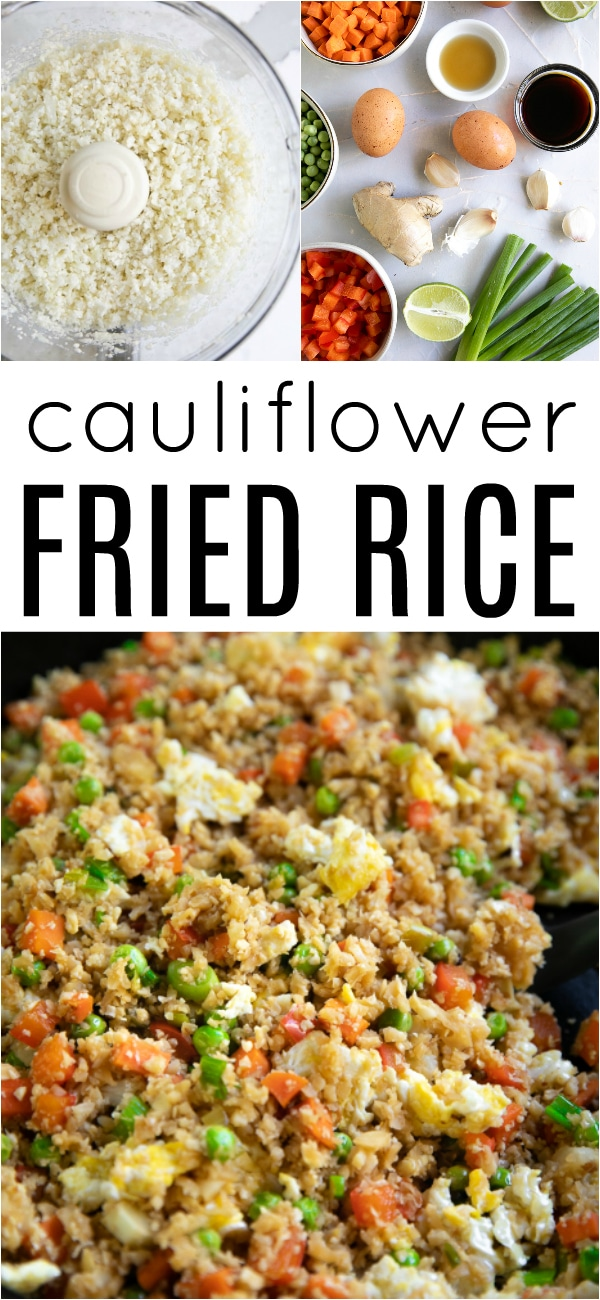 Cauliflower Fried Rice Recipe #cauliflowerrice #cauliflowerfriedrice #friedrice #lowcarb #lowcarbrecipe #cauliflowerrecipe #vegetarian #30minutemeal