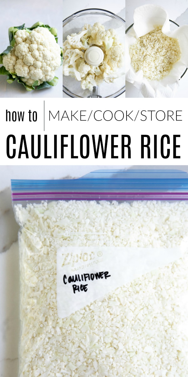 Cauliflower Rice - How to Make Cauliflower Rice #cauliflower #cauliflowerrice #cauliflowerrecipe #lowcarb #glutenfree #healthyrecipeideas #lowfatrecipe | For this recipe and more visit, https://theforkedspoon.com/how-to-make-cauliflower-rice/