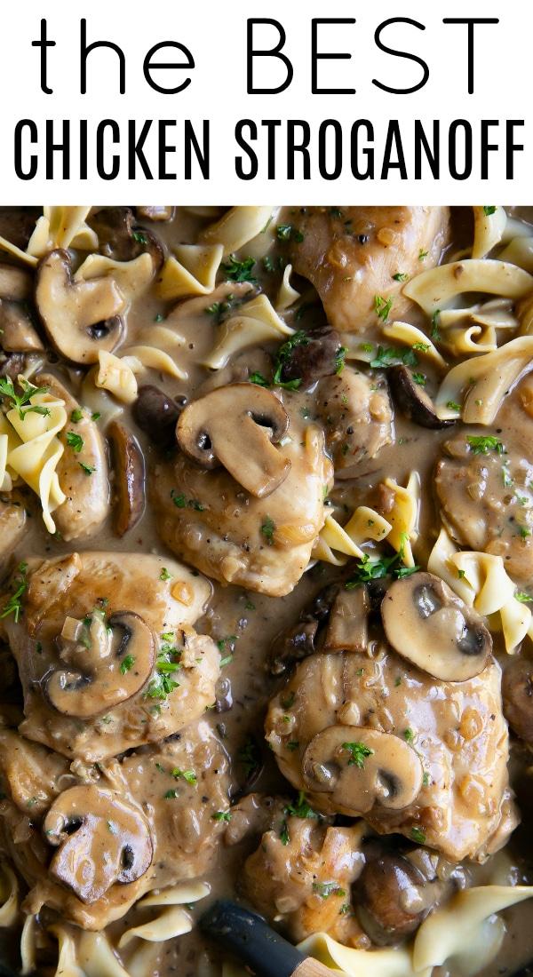 Easy Chicken Stroganoff Recipe #chickenrecipe #chickenstroganoff #stroganoff #chicken #easychickendinner #easychickenrecipe