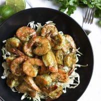 Spicy Cilantro Garlic Shrimp