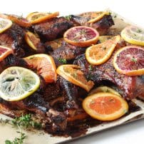 Oven Roasted Citrus Chicken with Pomegranate Molasses Marinade