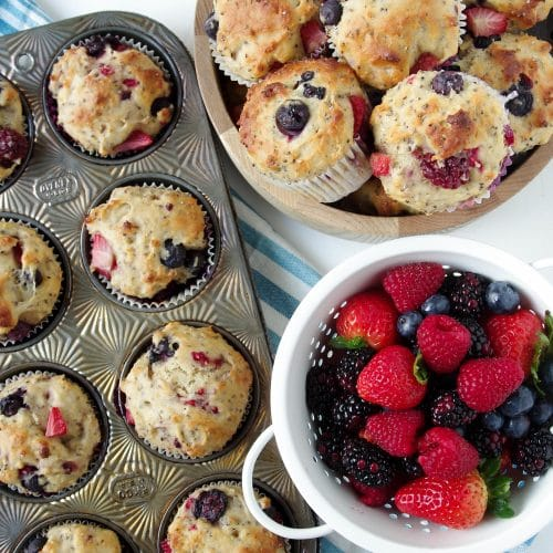 Super Berry Chia Muffins