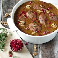 Persian Pomegranate and Walnut Stew (Khoresh Fesenjan)