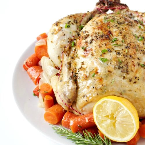 Garlic Herb Butter Roasted Chicken