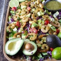 Shrimp and Avocado Salad with Cilantro Lime Dressing