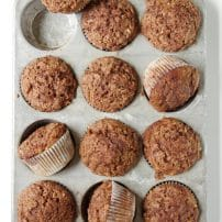 Healthier Cinnamon Apple Muffins with Cinnamon Sugar Topping