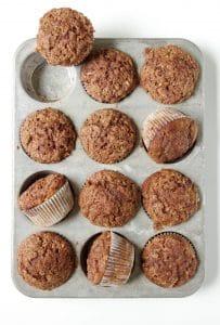 Healthier Cinnamon Apple Muffins with Cinnamon Sugar Topping