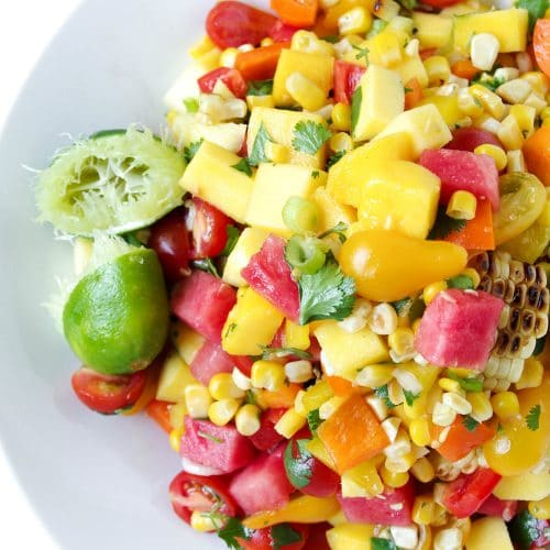 Mango, Watermelon + Corn Salad