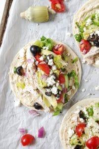 Easy Mediterranean Chicken Wraps with Hummus