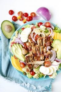 Honey Mustard Chicken and Bacon Salad with Fresh Mango