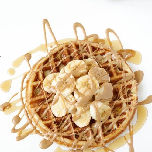 Belgian Buttermilk Waffles with JIF Peanut Butter Spreads