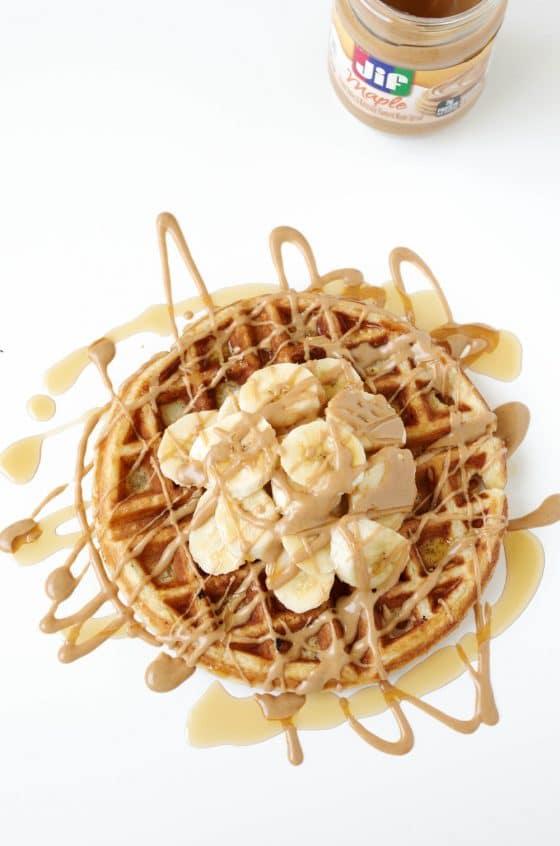 Belgian Buttermilk Waffles with JIF Peanut Butter Spreads
