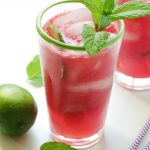 Watermelon Limeade (with no sugar added)