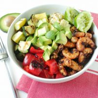 Grilled Shrimp and Veggie Bowls