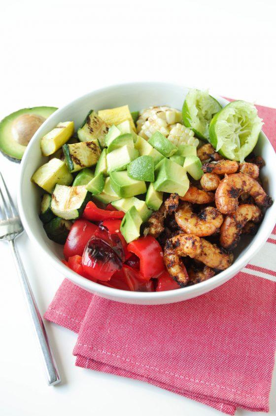 Grilled Shrimp and Veggie Bowls