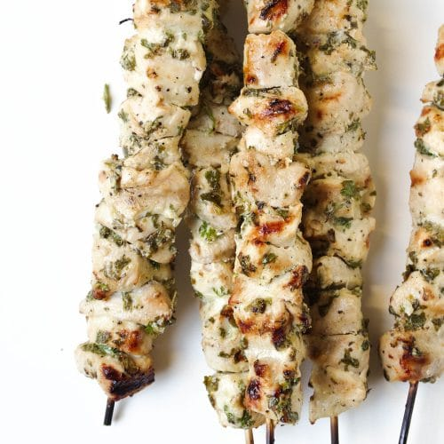 Grilled Marinated Chicken Skewers with Fresh Herbs