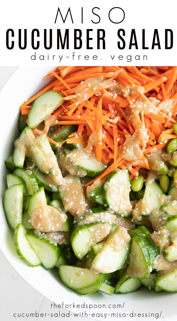 miso cucumber salad Pinterest PIN Collage copy