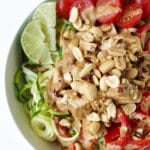 Zoodle Bowls with Thai Peanut Chicken