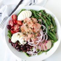 Salmon Niçoise Salad with Shallot Caper Vinaigrette