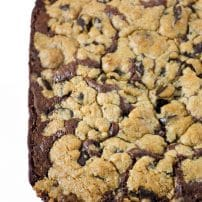 Soft and Chewy Chocolate Chip Brownie Bars